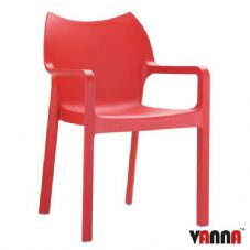 Vanna Peak Arm Chair - Red